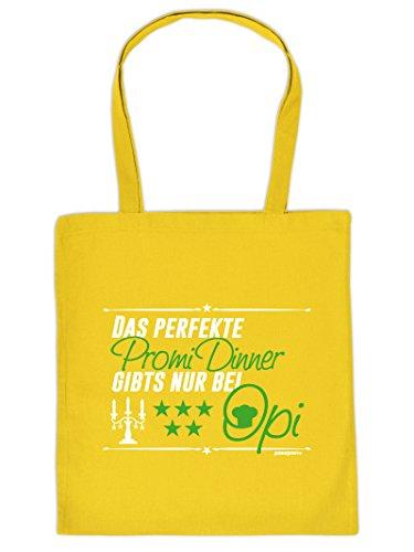 Mega Coole Baumwolltasche / Einkaufstasche - Geschenk für den Opa - Das perfekte Dinner gibts nur bei Opi /Goodman Design