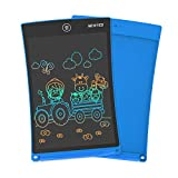 NEWYES 8.5 Inches Colorful Doodle Board LCD Screen Writing Tablet Magnetic Drawing Board Erasable Doodles Notepad Gifts for Ages 3+ Blue