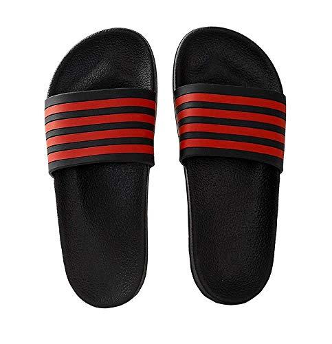 51314d6d80f Cloteri Comfort Fit Soft Rubber House 4 Line Classy Men s Stripped Slide  Flip Flop Slippers -