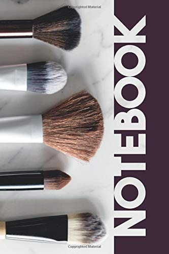 Notebook: Makeup Brushes Helpful Composition Book for Beauty Parlor Professionals