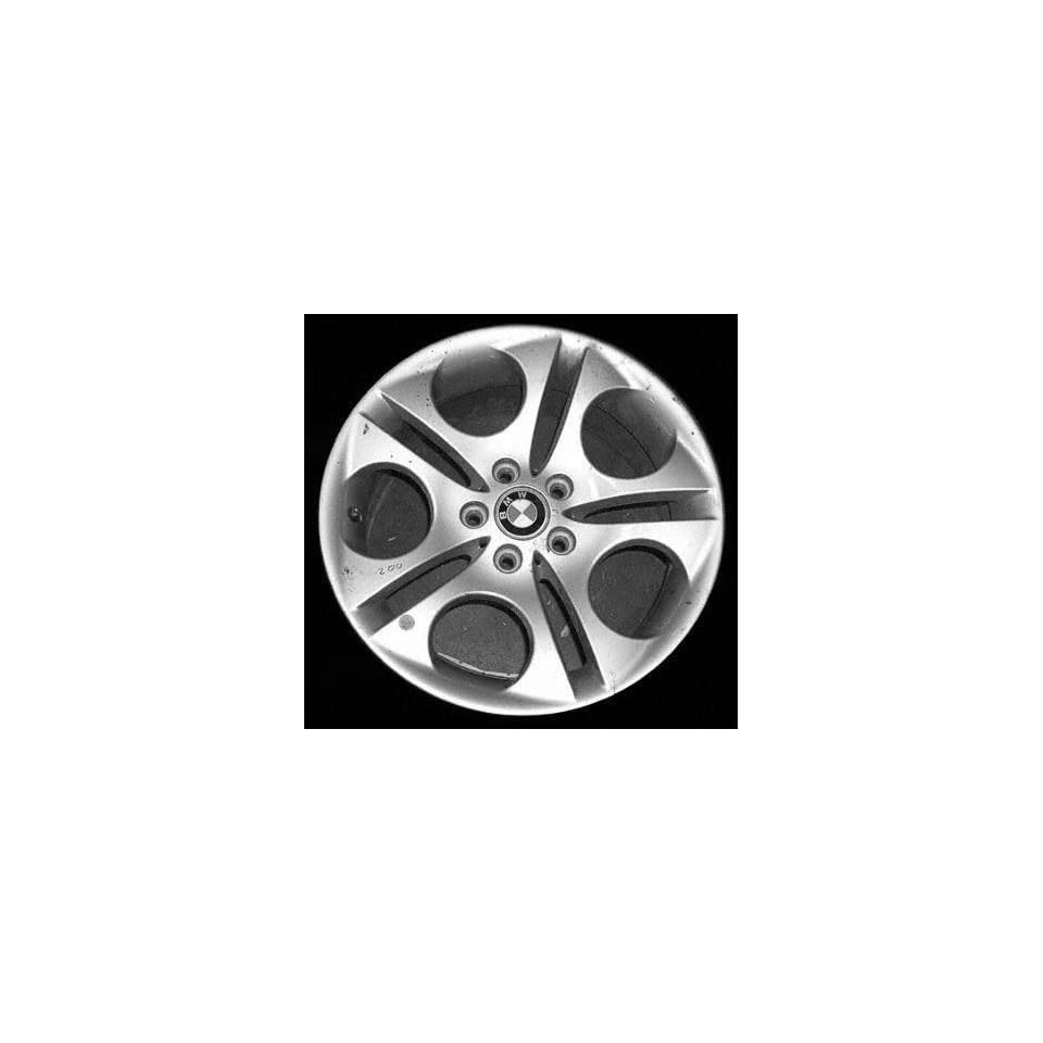 03 04 BMW Z4 ALLOY WHEEL RIM 18 INCH, Diameter 18, Width 8.5 (5 SPOKE), 50mm offset Style #107 LA ellipsoid design, BRIGHT SILVER, 1 Piece Only, Remanufactured (2003 03 2004 04) ALY59425U20