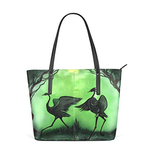 Coosun Cranes Pu Leather Handbag Bags Purse And Tote Bag For Women Means Muticolour