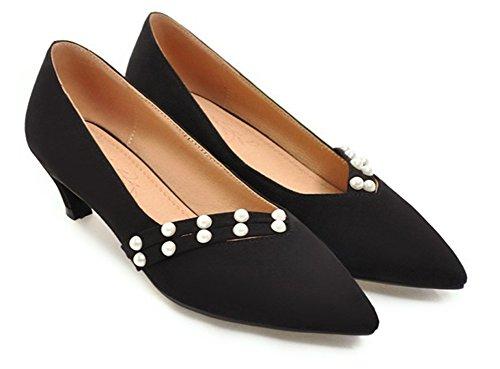 Escarpins Bijoux Travail Femme heel Noir Original Kitten Aisun BqwYaOPHa