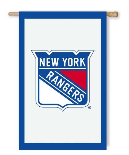 28'x44' Applique Banner Flag - NHL New York Rangers 28'' x 44'' Double-Sided Applique Flag - White
