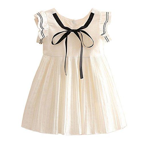 Mud Kingdom Preppy Girls Dresses Butterfly Sleeve Size 5 White]()