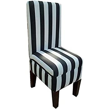 Amazon Com Black And White Striped Dining Vanity Chair