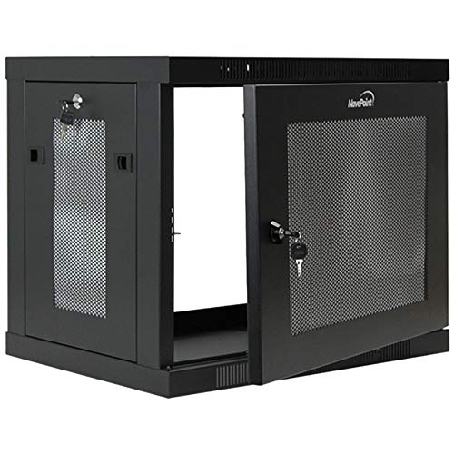 NavePoint 9U Wall Mount Rack Enclosure Server Cabinet 16.5