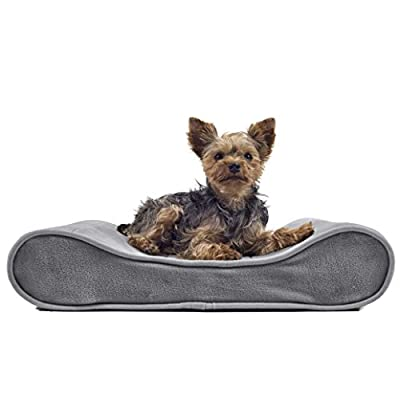 Furhaven Pet Small Microvelvet Luxe Lounger Orthopedic Pet Bed