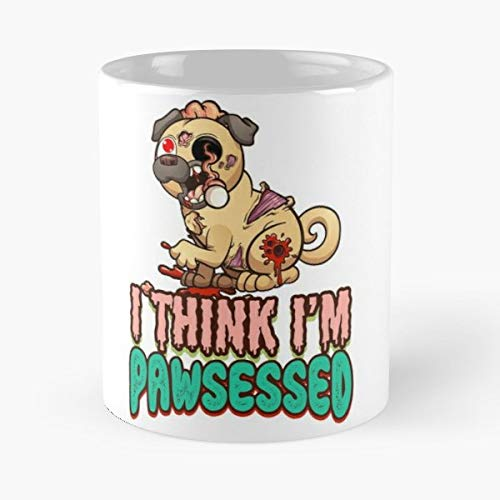 Halloween Pug Costume Dog Zombie - Best Gift Coffee Mugs 11 Oz Father Day]()