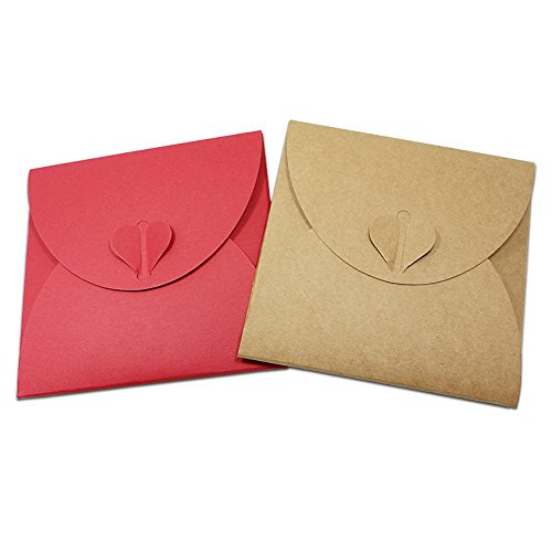 Paper Cd Packaging - Lavenz Kraft Paper DVD Sleeve CD Packaging Box Cases CD DVD Packing Cover Holder Boxes Envelopes For Party Wedding Baby Shower 13x13cm
