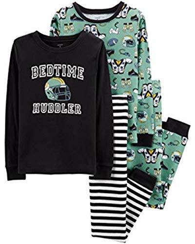 Carter's Toddler Boys 4 Pc Pajama PJs Sleep Play Sleep Snug fit Cotton Football Sports Huddler (12)