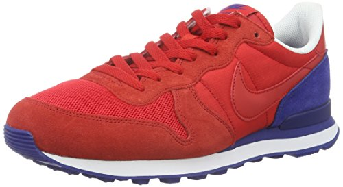 Nike Men's Internationalist Fitness Shoes, Green White Blue (University Red/Deep Royal Blue)