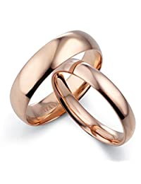 Gemini His & Her's Dome Comfort Fit Rose Gold Promise Wedding Titanium Ring Set Width 6mm & 4mm Men Size : 10.5 Valentine's Day Gifts