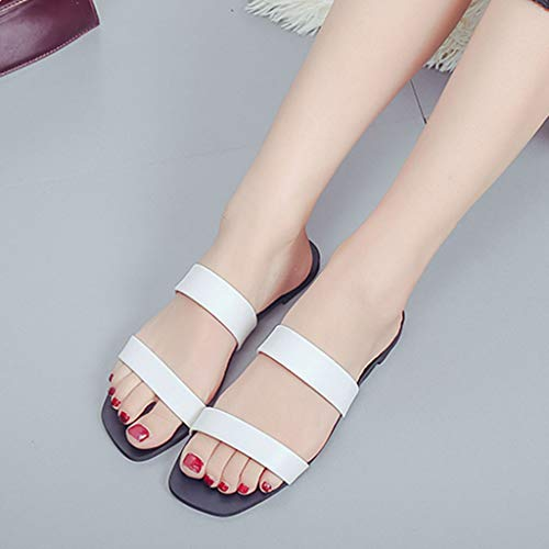 Trasparenti Elegante Moda Bianco Sandals Nuovo Casual Infradito Nero Ihengh Pantofola Donna Ragazza Regalo Women Peep Estivo Roma Toe Shoes Spiaggia Sandali 2019 OvppEqw1x6