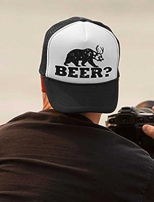 Tstars - Deer Beer Bear - Funny Vintage Style Retro Trucker Hat Mesh Cap