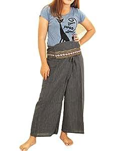 Drill Cotton Thai Fisherman Pants Yoga Trousers FREE SIZE Plus Size Cotton