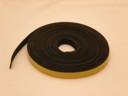 NEOPRENE RUBBER Self Adhesive Strip : 1'' wide x 1/16'' thick x 33 feet long