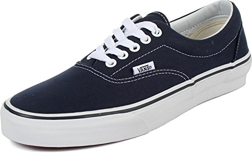 Vans VEWZNVY Unisex Era Canvas Skate Shoes,Navy, 10 B(M) US Women / 8.5 D(M) US Men