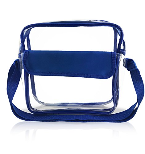 Stadium Approved Clear Messenger Bag / Large 10 Inches Cross Shoulder / Event Security Compliant / Transparent - York New Shops In Airport