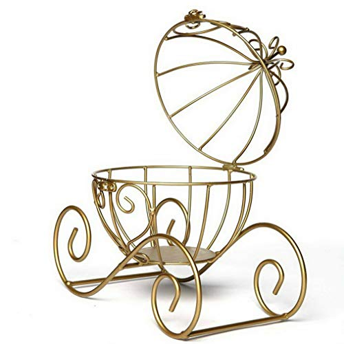 Mikash Gold Cinderella Carriage with Candle Holder Centerpieces Wedding Favors Home | Model WDDNGDCRTN - 3100 | 1 Set