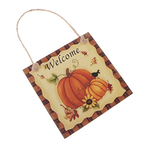 Jili Online Halloween Trick or Treat Party Fall Wooden Plaque Board Door Wall Hanging Sign - Welcome