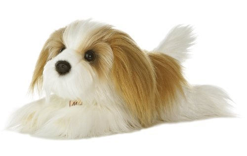 Aurora World Miyoni 11 inches Shih Tzu Stuffed Dog with Brush by Aurora World, - Aurora Mall