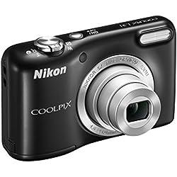 """Nikon Coolpix L31 Fotocamera compatta digitale, 16 Megapixel, Zoom 5X, ISO 1600, display da 3"""", colore: nero [Nital card: 4 anni di garanzia]"""