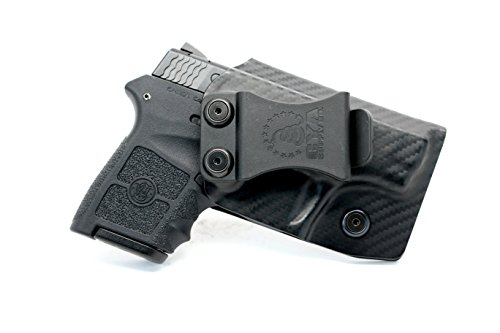 CYA Supply Co. IWB Holster Fits: Smith & Wesson M&P Bodyguard 380 Veteran Owned Company - Made in USA - Made from Boltaron - Inside Waistband Concealed Carry Holster (Carbon Fiber, Left Hand Draw)