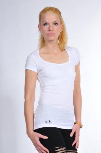 Imprime Jour shirt Ladies Courtes 3elfen Fashion Femmes Col Blanc t Élément Manches De Chemise Rond wfqHgf80
