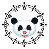 Giant Panda Bear Head (Pink Nose) - Bear - JP Animal - WATCHBUDDY ELITE Chrome-Plated Metal Alloy Watch with Metal Mesh Strap-Size-Small ( Childrens Size - Boys Size & Girls Size )