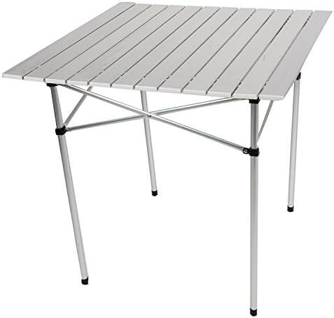 Shop4Omni Omni Heavy Duty Aluminum Roll-Up Card Table w Case Camping Picnic Patio