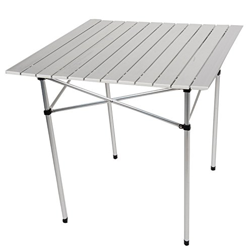 Shop4Omni Omni Heavy Duty Aluminum Roll-Up Card Table w Case for Camping Picnic or Patio by Shop4Omni