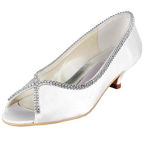 Kevin Chaussures Fashion 43 femme mariage Blanc blanc tendance de R4Rr1WUq