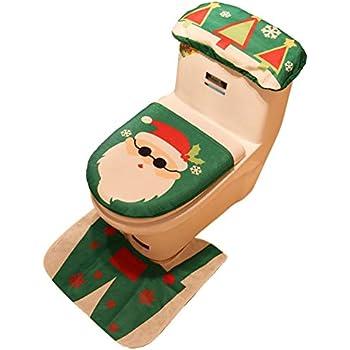 Stupendous Amazon Com Ohuhu Santa Toilet Seat Cover 4 Piece Christmas Pabps2019 Chair Design Images Pabps2019Com
