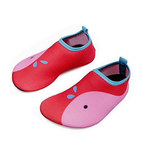 DKRUCAK Kids Swim Water Shoes Baby Boys Girls Toddler Quick-Dry Barefoot Aqua Socks Shoes for Beach Pool Surfing Walking