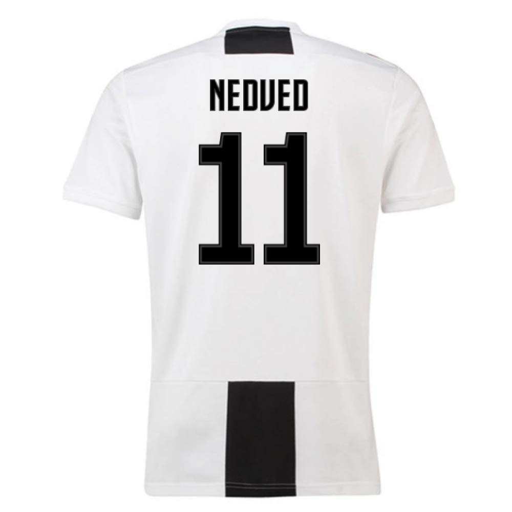 2018-19 Juventus Home Football Soccer T-Shirt Trikot (Pavel Nedved 11)