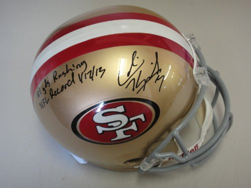 STAR AUTHENTICATED SIGNED 49ERS HELMET AUTOGRAPHED INSCRIBED ()