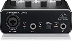 When it's time to make recording history, You need the best audio interface you can get, and you need one you can count on. That's why BEHRINGER has introduced the new U-PHORIA series USB Audio interfaces. With 4 unique models to choose from,...