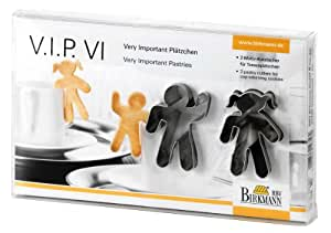 Birkmann 143562 VIP - Moldes para galletas (2 unidades, 6 cm), acero, diseño de pareja