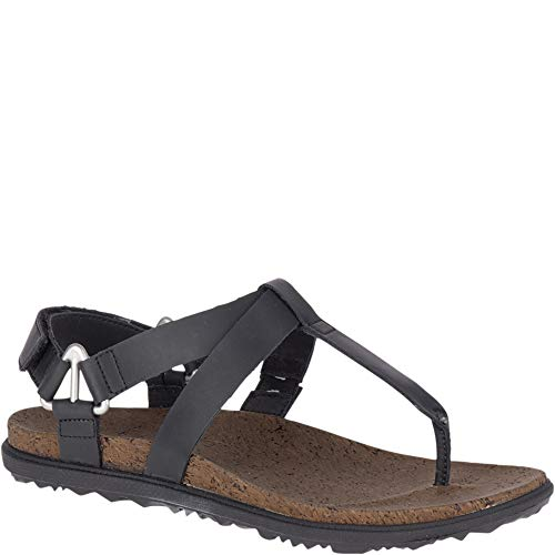 Merrell Women's, Around Town Chey T Strap Sandal Black 7 M