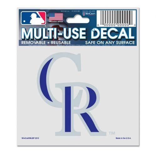 WinCraft MLB Colorado Rockies 84402010 Multi-Use Decal, 3