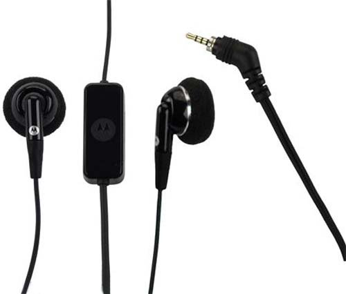 Motorola SJYN0505A Original OEM 2.5mm PTT Stereo Wired Headset - Non-Retail Packaging - Black (Motorola Nextel Part)