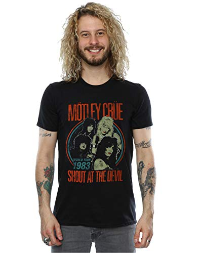 Motley Crue Men's Vintage '83 Shout at The Devil T-Shirt Black Large