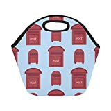 Insulated Neoprene Lunch Bag Letter Box Hand-painted Ideas Large Size Reusable Thermal Thick Lunch Tote Bags For Lunch Boxes For Outdoors,work, Office, School