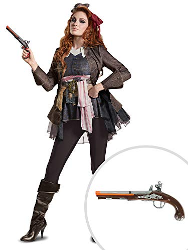 Jack Sparrow Costume Kit Deluxe Womens M with Pistol