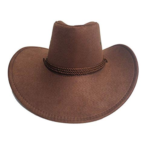 - CHENTAI New Cowboy Cap Suede Look Wild West Fancy Cowgirl Unisex Hat