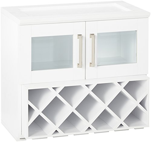 New Age Products Home Bar Wall Wine Rack Cabinet (Rack Glass Insert)