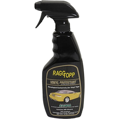 MACs Auto Parts 66-52320 - Ford Thunderbird Raggtopp Brand Convertible Top Protectant, For Vinyl Tops, 16 Oz. Pump