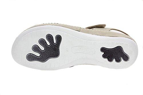 Amples Amovible Semelle PieSanto Confort Sandales Confortables Visón Femme Cuir à 1909 Chaussure en 8P1qp6w