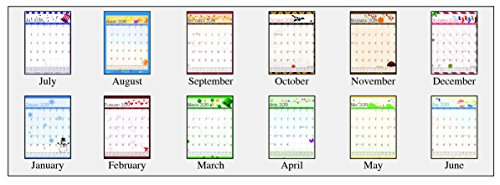 House of Doolittle 2018-2019 Monthly Seasonal Wall Calendar, Academic, 12 x 16.5 Inches, July - June, Case of 24 (HOD3395PK-19) by House of Doolittle (Image #1)
